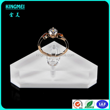 Tabletop Triangle Acrylic Wedding Single Ring Stand