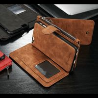 Caseme Retro PU Leather Multi Functional Stand Wallet Case Cover with Several Card Holders for iPhone 6 6S New Arriva