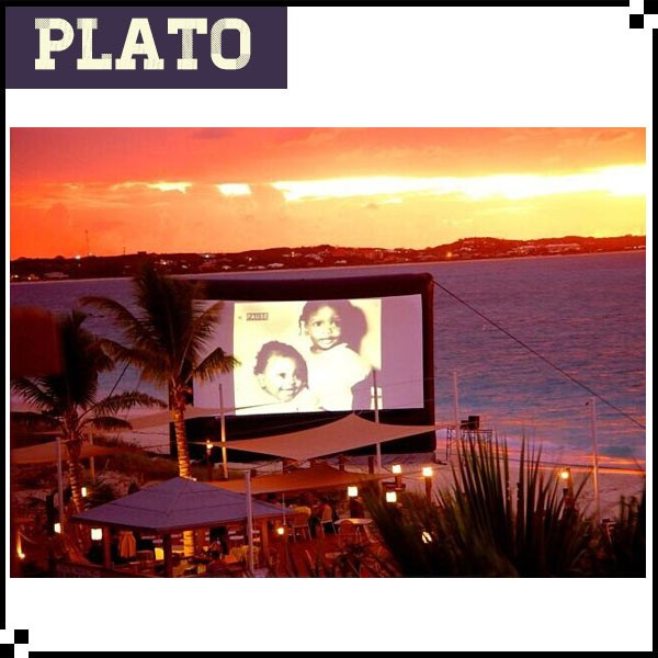 Beach inflatable projector screens outdoor used giant movie screen