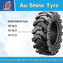 Aushine cheap 23.5*25 bobcat skidsteer solid tire for sale