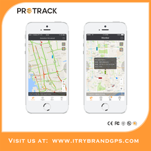 PROTRACK Google maps cell mobile phone GPS Location Upload tracking server software for vehicle car tracking system