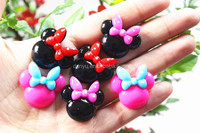 flatback mickey shaped cake resin foods for phone decoration