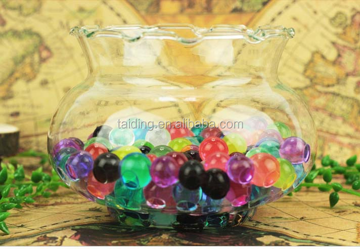 Soiless culture Pearl shaped Crystal Soil Water Beads/ diamond shaped crystal beads