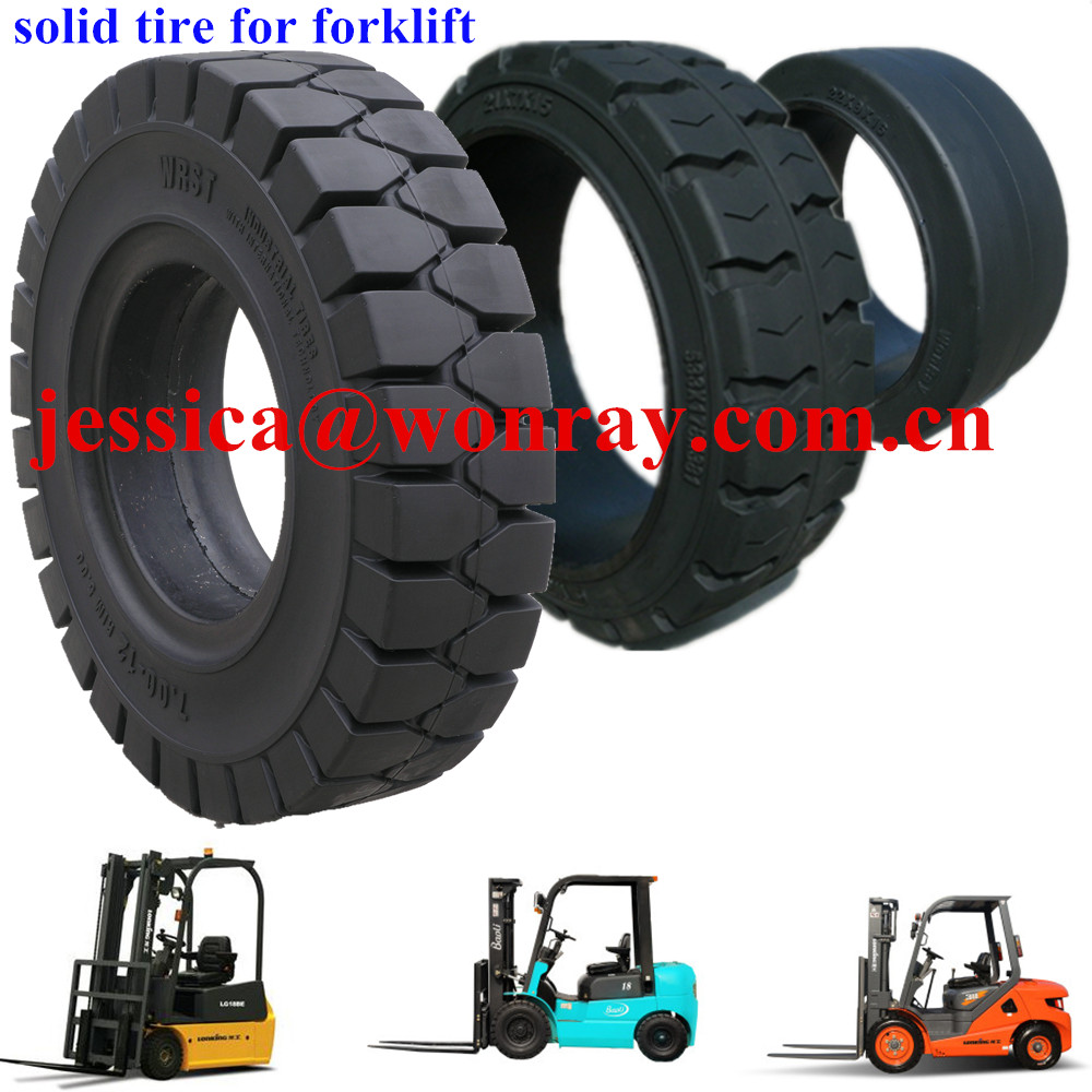 click solid tire 21x7x15 18x7-8 forklift tyre direct buy china