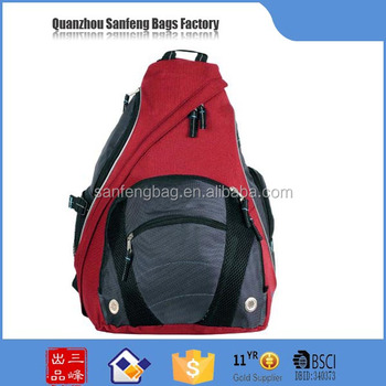 Day Backpack Use and 600D polyester,durable polyester sling backpack bag,Polyester Material sling backpack