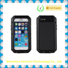 Gorilla Glass metal waterproof case for iphone 5 5s Protective Cover, for iphone 6 Love Mei Aluminum Cover
