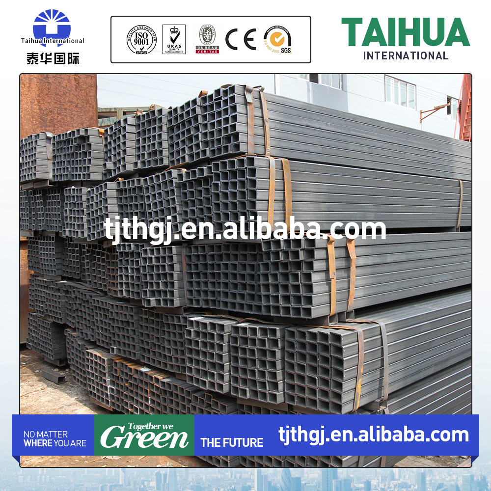 Nice price rectangular/square steel pipe/tubes/hollow section galvanized/black