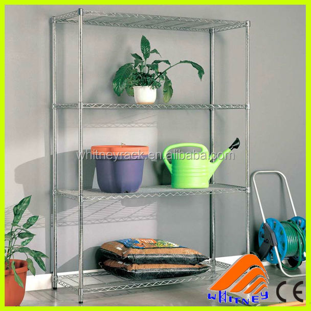 garden flower shelf rack,grid rack,metal joint for pipe rack system
