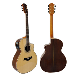 Aiersi Brand solid wooden chinese acoustic electric guitar (SG102SE)