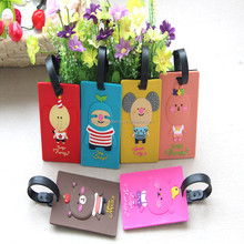 2014 Cute Travel 3D Soft PVC Cartoon Animal Luggage Tags