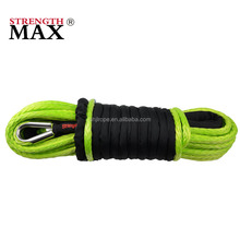 (JINLI ROPE) Pre-stretched Synthetic winch rope for electric winch with Thimble,Hook,Protective sleeve and nose