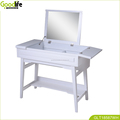 Vanity Makeup Table , Flip Top Mirror, Flip cover drawer, Organizer, Dressing ,white