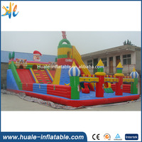 Happy bouncy fairland/inflatable christmas bouncy castle with slide for kids