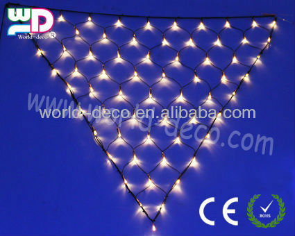 Indoor/outdoor decorate holiday sparkle triangle net lights