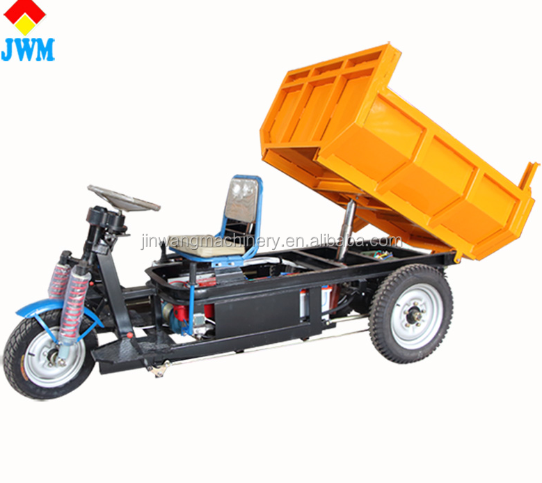 China top popular battery hydraulic cargo tricycles on sale/electric dumper tricycle for sale
