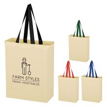 2018 White Background Black Logo Custom Printed Canvas Wholesale Tote Bags