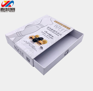 single white color box Paperboard custom offset underwear clothes Gift paper drawer Packaging Box with ribbon