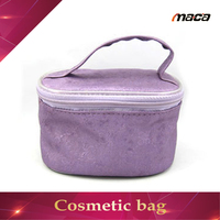 2017 New Design printed cosmetic bag with handle travel makeup up tools case