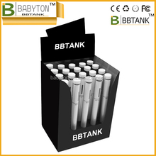 BBtank T2 cbd hemp oil shatter thank disposable oil vape pen, Babyton display case