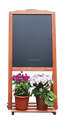Blackboard with flower holder