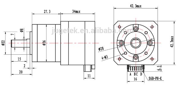 nema 17 geared stepper motor 12 voltage gear reducer