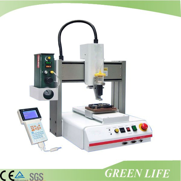 High quality programmable desktop xyz three axis auto glue dispenser for labeling