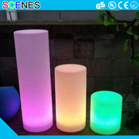 christmas programs smart remote control choose 16colour illuminated decoration led light columns for wedding or event