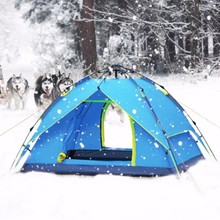 High quality 3-4 persons waterproof outdoor camping tent