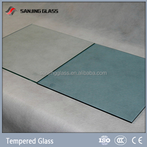 Tempered decorative glass for kitchen cabinets