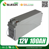 China best suplier Bluesun deep cycle lead acid 12v 100ah gel car battery