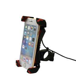 Universal Bike Phone Holder usb charger cable New arrival motorcycle mobile phone holder with USB