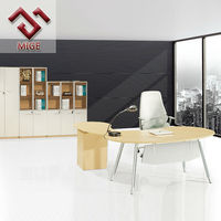 Modern L shaped Half Round Office Desk
