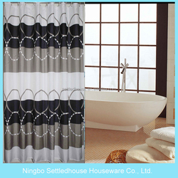 Latest luxurious curtain designs 200cm thick peva shower curtain