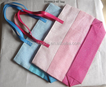 Simple canvas bag women hand bag shopping bag factory supply