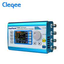 Cleqee Arbitrary Waveform Dual Channel High Function Signal Generator 200MSa/s 100MHz Frequency Meter