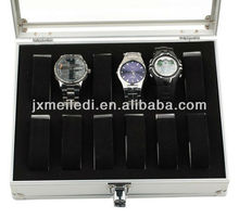 new customed grooming acrylic silver Aluminum tools box tools case tool kit watch box