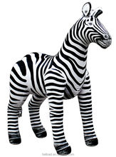 Giant inflatable zebra animal model for event