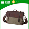 Single shoulder men messenger bag retro style shoulder leisure canvas cow hide canvas bag