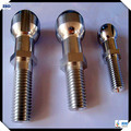 Customized ball head aluminum bolts/ fasteners with groove in multi-sizes