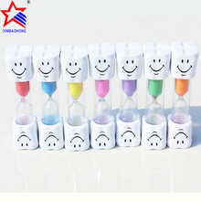 Plastic Hour Glass 2 Minutes Tooth Brushing Sand Timer For Kids