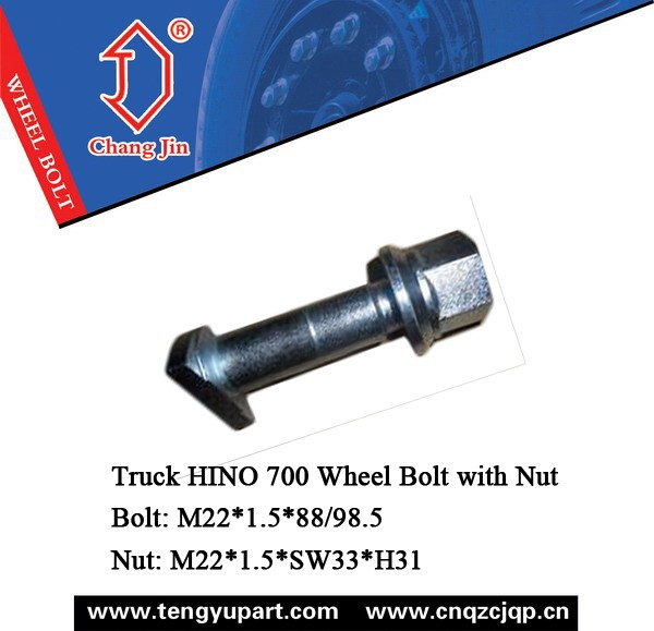 Truck HINO 700 Wheel Bolt with Nut