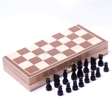 Hot new products for 2016 wooden folding travel chess set with magnetic Closure