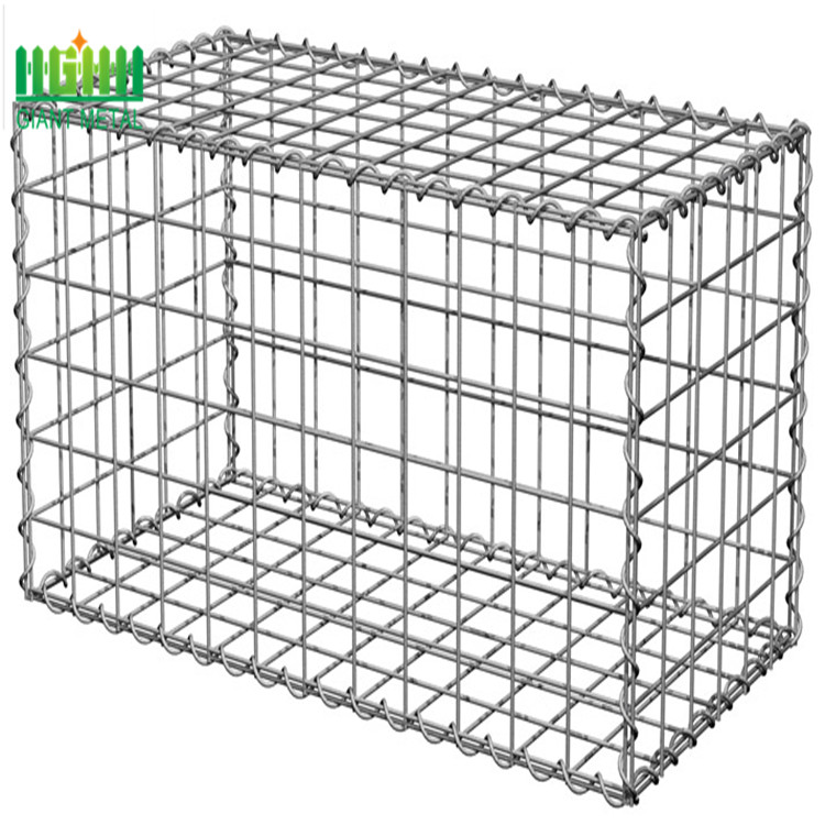 ISO Manufactory export Galvanized welded Gabion barrier cages for garden stone box