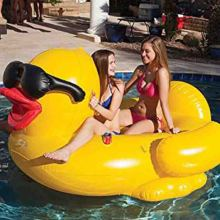 Hot sale adults swimming water playing inflatable yellow duck pool float