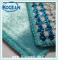new product wood fiber and steel wire oil free ktichen cleaning cloth