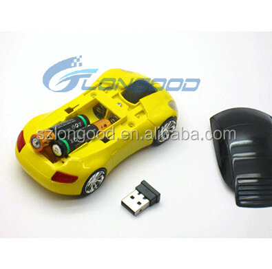 2017 racing car shape wireless mouse for laptop and computer