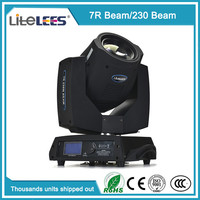 pro stage light 230w sharpy 7r beam moving head light standar 16 chs dmx512 8-facet prism for disco bar concert