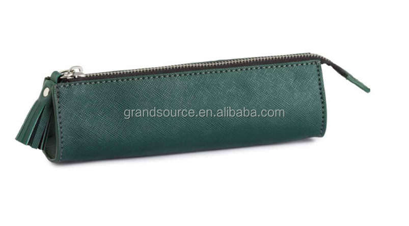 cheap kid school and office PU leather pencil case/cosmetic for promotion