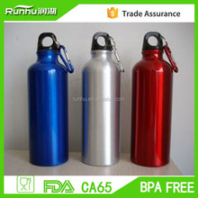 Portable Aluminum Water Drink Bottle Carabiner 500ML Sports Bike Bicycle Cycling Bottle RH403-500