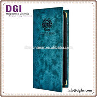 Lighter hotel menu printing / good menu design ideas / factory price leather cover